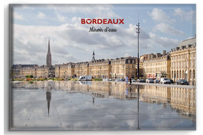 Magnet représentant de miroir d´eau à Bordeaux