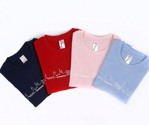 Tee-shirt enfant bordeaux souvenir