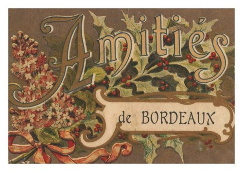 Carte Amitiés de Bordeaux