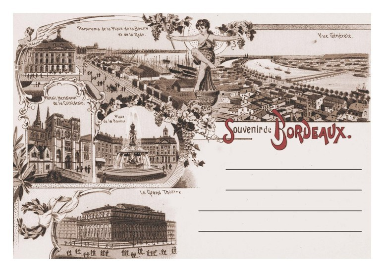 Carte postale ancienne Bordeaux