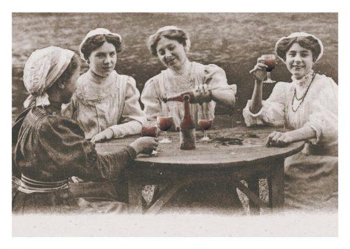 Carte postale ancienne Bordeaux vin filles