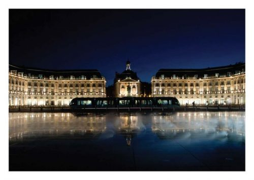 Carte postale Bordeaux La Place de la Bourse de nuit