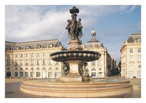 Carte postale Bordeaux La Fontaine des Trois Grâces