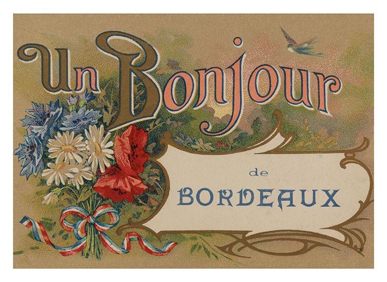 Carte postale - Un Bonjour de Bordeaux - Bordeaux Shop