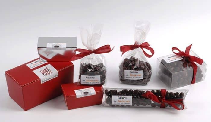 Raisins de Sauternes enrobés de chocolat