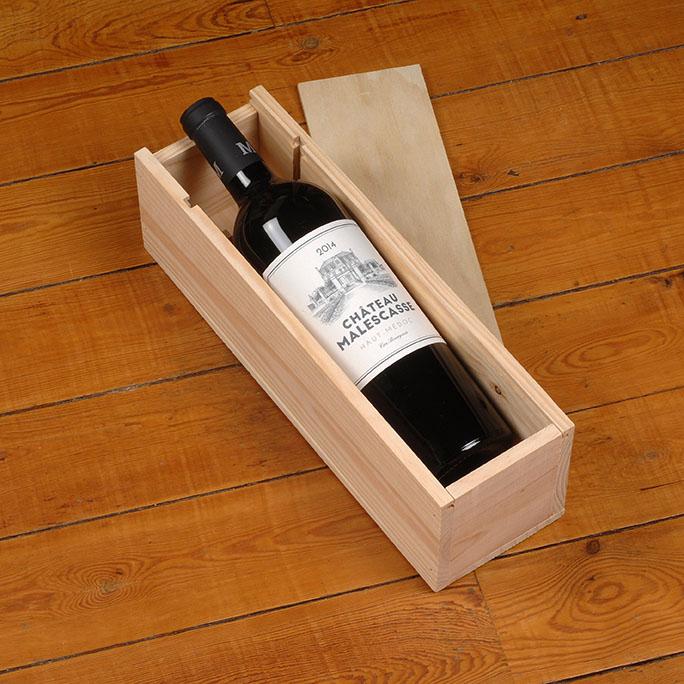 caisse bois vin 1 bouteille