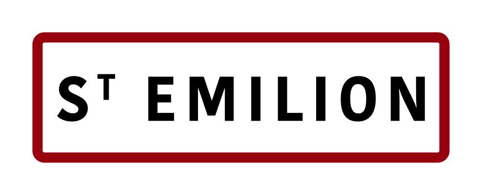 Magnet panneau de signalisation ville de Saint-Emilion