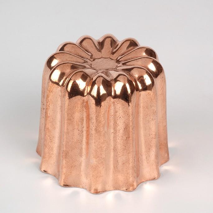Grand moule à canelé en cuivre