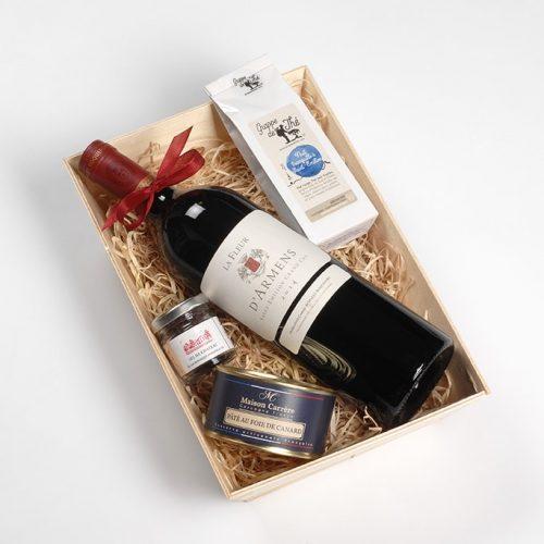 Coffret cadeau vin Bordeaux Saint-Emilion