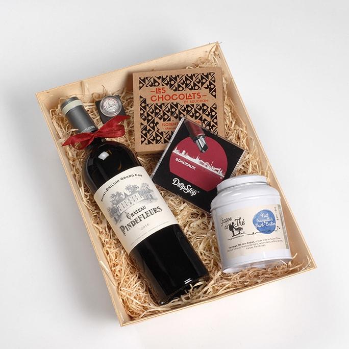 Coffret cadeau vin Saint-Emilion