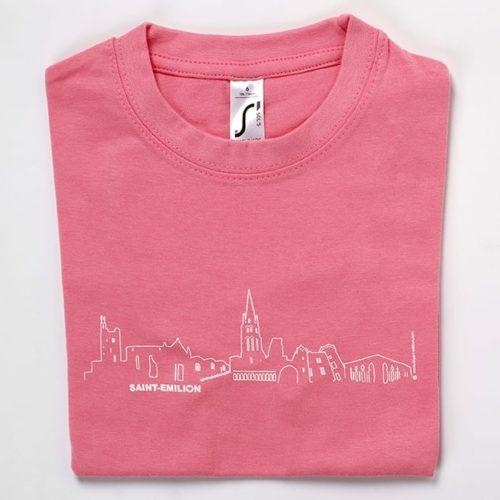 tee-shirt enfant rose souvenir saint-emilion