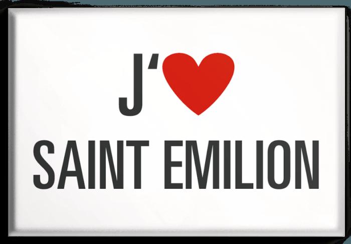 Magnet j'aime saint-emilion