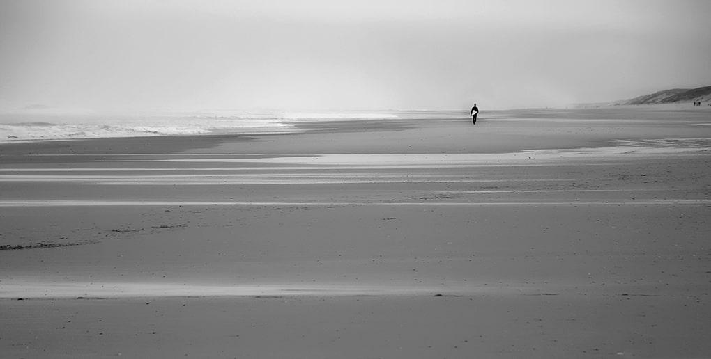 Photo noir et blanc bassin d'arcachon