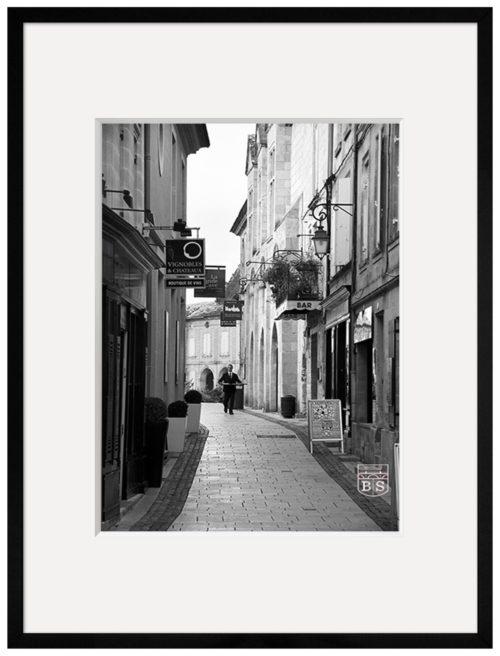 photo noir et blanc saint-emilion encadrée