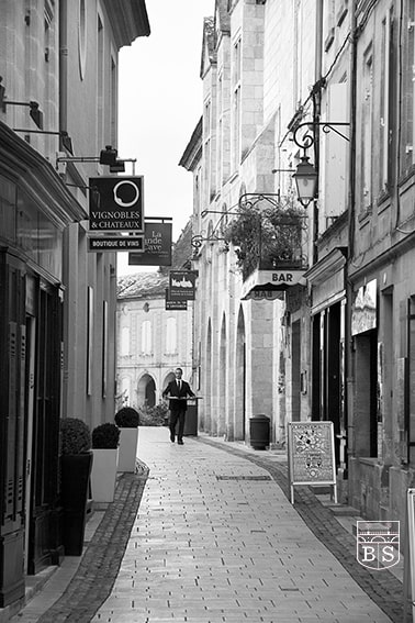 photo noir et blanc saint-emilion
