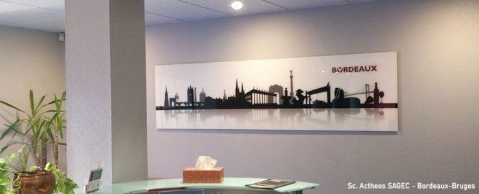 décoration bureaux skyline bordeaux